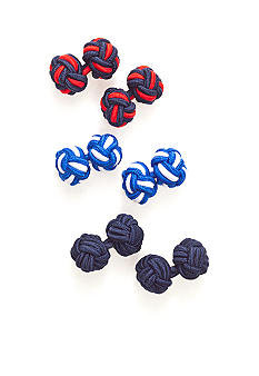 Saddlebred 3-Knot Cufflink Sets