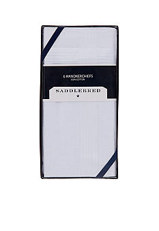Saddlebred® 6 Pack Cotton Handkerchiefs