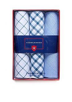 Saddlebred 3-Pack Cotton Handkerchiefs