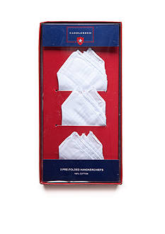 Saddlebred 3-Pack Pre-Folded Cotton Handkerchiefs