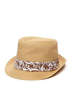 Saddlebred® Floral Band Straw Fedora