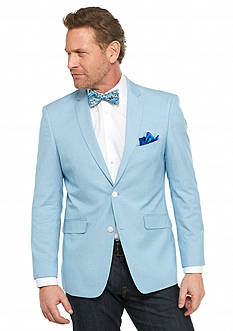 Madison Slim-Fit Aqua White Mini Check Sport Coat