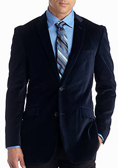Madison Big & Tall Deep Blue Velvet Sport Coat