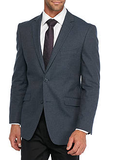 Madison Slim-Fit Blue Tic Sport Coat
