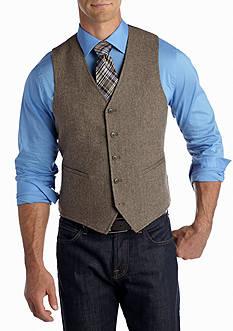 Madison Brown Herringbone Vest