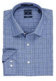 Saddlebred® Glen Plaid Slim Fit Dress Shirt