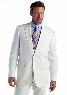 Palm Beach Classic Fit White Linen Suit Separate Coat