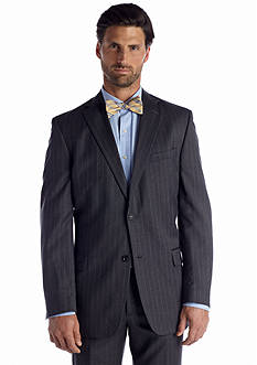Palm Beach Classic Fit Bishop Grey Stripe Suit Separate Coat