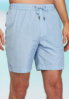 Michael Kors Dot Grid Swim Trunks