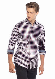 Michael Kors Tailored Fit Peyton Check Woven Shirt