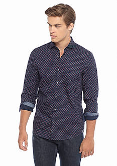 Michael Kors Slim Fit Cross Print Woven Shirt
