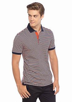 Michael Kors Three Color Stripe Polo Shirt
