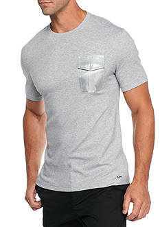Michael Kors Woven Pocket Liquid Crew Neck Tee