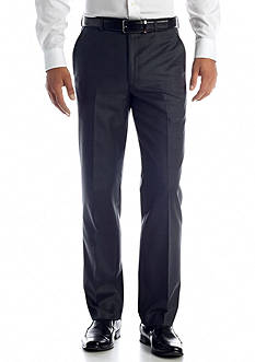 Lauren Ralph Lauren Tailored Clothing Classic Fit Flat Front Charcoal Pants