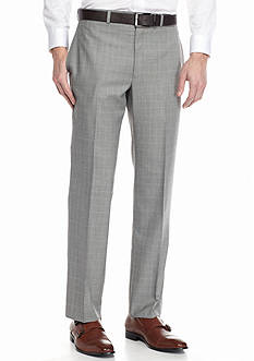 Lauren Ralph Lauren Tailored Clothing Classic-Fit Flat-Front Windowpane Dress Pants