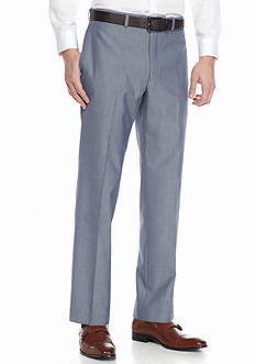Lauren Ralph Lauren Tailored Clothing Classic-Fit Flat-Front Tic Dress Pants