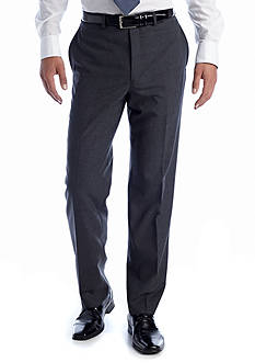 Lauren Ralph Lauren Tailored Clothing Grey Elvan Flat Front Pants