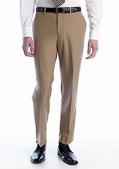 Lauren Ralph Lauren Tailored Clothing Tan Elvan Flat Front Pants