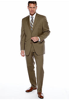 Lauren Ralph Lauren Tailored Clothing Tan Pleated Suit Separate Pants