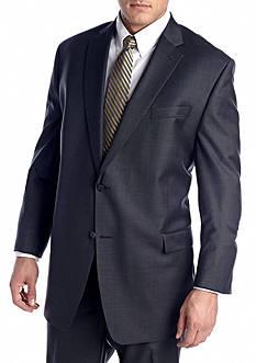 Lauren Ralph Lauren Tailored Clothing Big & Tall Charcoal Suit Separate Coat