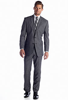 Lauren Ralph Lauren Tailored Clothing Classic Fit Gray Plaid Suit