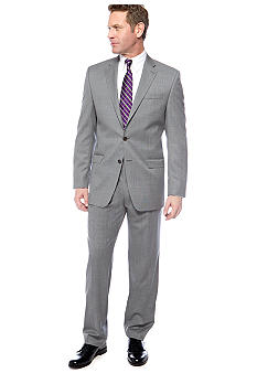 Lauren Ralph Lauren Tailored Clothing Gray Tic Suit