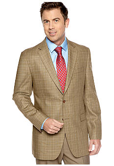 Lauren Ralph Lauren Tailored Clothing Plaid Windowpane Sportcoat