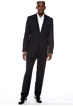 Lauren Ralph Lauren Tailored Clothing Slim Navy Fineline Suit