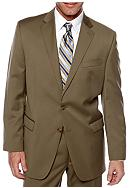 Lauren Ralph Lauren Tailored Clothing Tan Suit Separate Coat