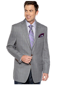 Lauren Ralph Lauren Tailored Clothing Herringbone Windowpane Sportcoat