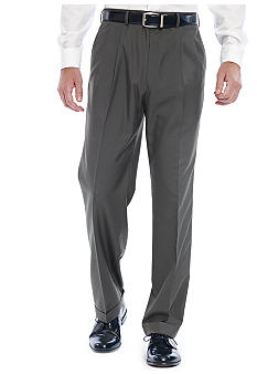 Lauren Ralph Lauren Tailored Clothing Sharkskin Pleated Slacks