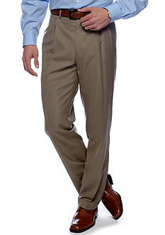 Lauren Ralph Lauren Tailored Clothing Classic-Fit Sharkskin Pleated Wrinkle-Resistant Dress Pants