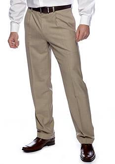 Lauren Ralph Lauren Tailored Clothing Classic Fit Sharkskin Pleated Wrinkle Resistant Dress Pants