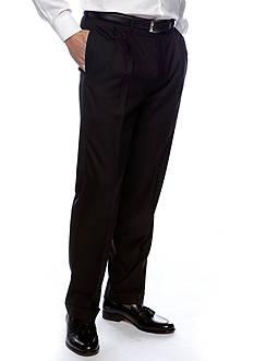 Lauren Ralph Lauren Tailored Clothing Classic Fit Sharkskin Pleated Wrinkle-Free Dress Pants