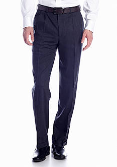 Lauren Ralph Lauren Tailored Clothing Charcoal Pleated Wool Pants