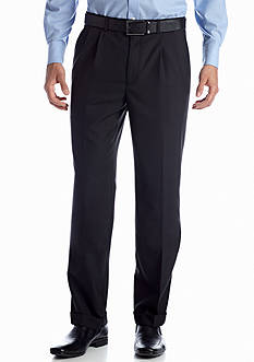 Lauren Ralph Lauren Tailored Clothing Black Pleated Wool Pants