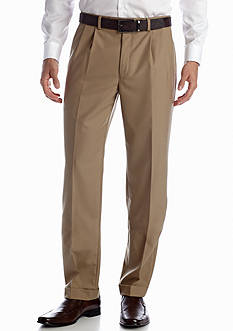Lauren Ralph Lauren Tailored Clothing Tan Wool Pleated Pants