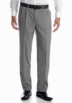 Lauren Ralph Lauren Tailored Clothing Black & White Pleated Wool Pants