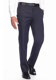 Lauren Ralph Lauren Tailored Clothing Classic Fit Blue Tic Pants