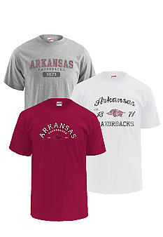 M J Soffe Arkansas Razorbacks 3-Pk Tees