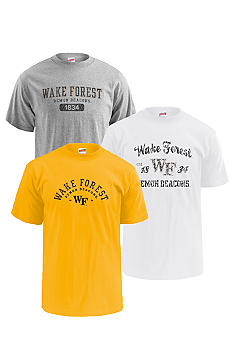M J Soffe Wake Forest Demon Deacons 3-Pk Tees