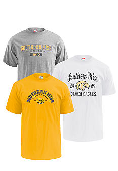 M J Soffe Southern Miss Golden Eagles 3-Pk Tees