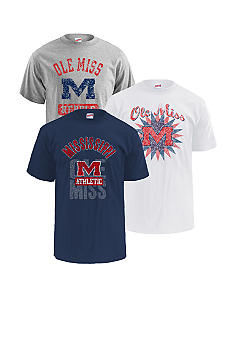 M J Soffe Ole Miss Rebels 3-Pack Tees