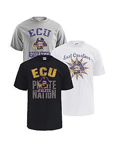 M J Soffe East Carolina Pirates 3-Pack Tees