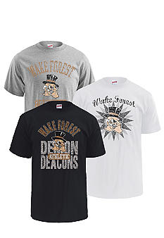 M J Soffe Wake Forest Demon Deacons 3-Pack Tees