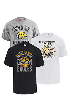 M J Soffe Southern Miss Golden Eagles 3-Pack Tees