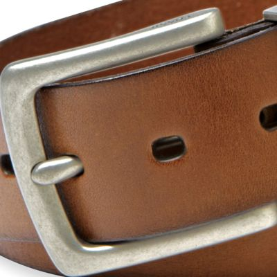 Young Men: Fossil Accessories: Brown Fossil Jay Leather Jean Belt