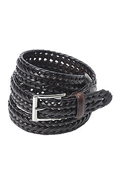 Fossil Myles 100% Genuine Leather Braided  Casual Belt