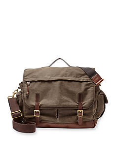 Fossil Defender Canvas Top Handle Messenger