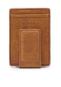 Fossil Ingram Leather Magnetic Card Case Wallet